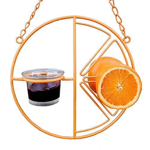 Heath Outdoor Products CF-133 Clementine Oriole Feeder , orange