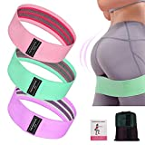 Fitaway Booty Bands, Fabric Resistance Bands, Resistance Bands for Women Butt and Legs, 3 Set Glute...