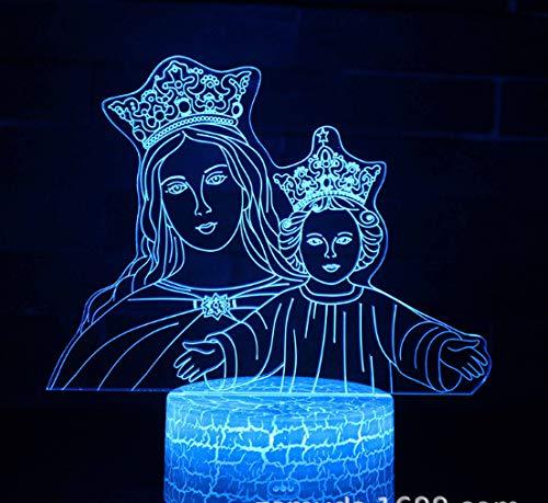 Madonna 3D Nachtlicht 7 Farben Home Decoration Tischlampe Riss Basis Led Touch Light 3D Illusionslicht
