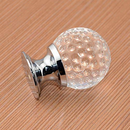 Pomos Para Cajones,5 Piezas De Perilla De Cristal Moderno Minimalista Bola Europea Redonda Accesorio De Cajón De Gabinete De Un Solo Orificio - Grande