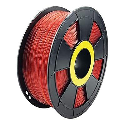 ZIRO 3D Printer Filament PLA PRO Translucent Series 1.75mm 1KG(2.2lbs), Dimensional Accuracy +/- 0.05mm,Translucent purple