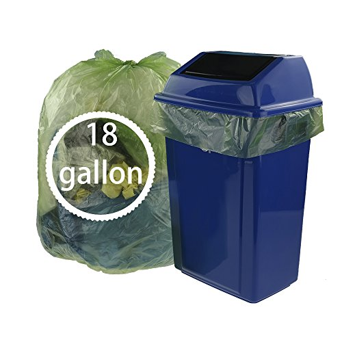Kekow Large Trash Bags for Kitchen, 18 Gallon, 85 Counts