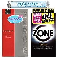 リンクルゼロゼロ 1000 8個入り + ZONE ゾーン コンドーム 10個入 + ファイティングスピリット ローション1本 セット