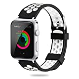 for Apple Watch Band 38mm 42mm,YiJYi Soft Silicone Sport Strap Replacement Wristband iWatch Ban…