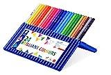 Staedtler Ergosoft 157 SB24. Lápices de color triangulares. Estuche con 24 unidades de colores variados