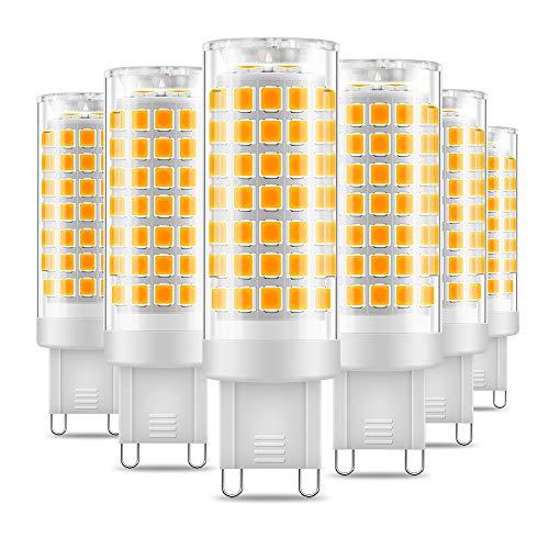 Eterbiz G9 LED Lampe, 7W, Ersatz für G9 60W Halogenlampen, 3000K Warmweiß, G9 LED Leuchtmittel Nicht Dimmbar,650Lumen, 220-240V, 360 Grad Winkel, G9 Energiesparlampen, 6er Pack