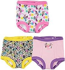 Disney Girls' 3pk Minnie Mouse Potty Training Pants Multipack, MinnieTraining3pk, 2T