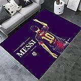 AMON LL AlfombrasColecciones de fútbol Alfombras, Cálido Moderno de Barcelona Impreso Multi Floor Mat,F,100×160cm