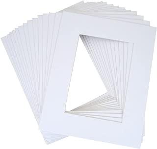 10 of 20x24 White Pre-cut Acid-free whitecore mat for 16x20 + back+bag