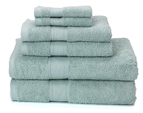 Premium Bamboo Cotton 6 Piece Towel Set (2 Bath Towels, 2 Hand Towels and 2...