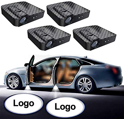 NewL 2 Pairs Custom Logo Wireless LED Projector Car Door Step Courtesy Welcome Lights Puddle Shadow LED Lights