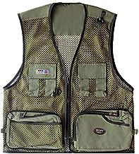 FEVIJNB jachtvest zomervest mannen Quick Dry mesh vest fotografie hunter field werkkleding mouwloos jack militair multifun...