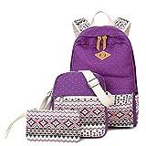 NALIDO Mochila de Escuela para niñas Adolescentes, señoras portátil de Viaje Mochila Mochila,Púrpura
