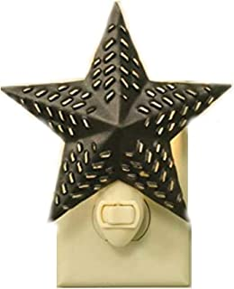 Barn Star Night Light (Rustic Brown)