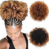 Court Afro Puff Synthétique Chignon 8 pouces Chignon Postiche Pour Les Femmes Cordon Queue de Cheval Crépus Bouclés Chignons Clip extensions