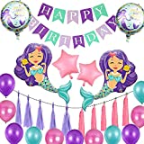 Globus De Sirena,Kit Globus Sirena,Decoració de Festa de Sirena,Decoració de Sirenes per a Festes,Globo Sirena per a Nena,Decoració d'Aniversari Sirena