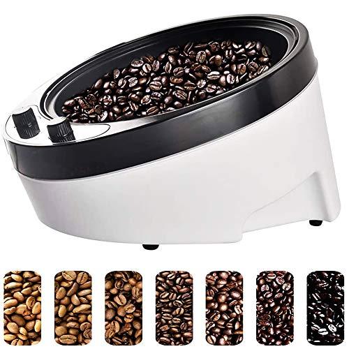 Kaffeebohnen-Röstmaschine Kaffeeröster 1800W Kaffeeröster-Maschine Elektrische Antihaft-Nuss-Erdnuss-Cashew-Kastanien-Röstmaschine Kaffeebohnen-Bäcker Einstellbar 0~240 ℃