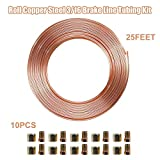 SANWAN - Juego de cables de freno de 3/16 pulgadas de acero interior para coche, tubo de a...