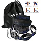 Hammock Straps XL with Carabiners, Camping Hammock Tree Straps Set - Quick & Easy Setup for All Hammocks, 20 ft Long Combined, 40+2 Adjustable Loops, 2000 LBS Capacity, No Stretch Polyester