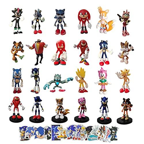 XINGENG Sonic figura sonic2 figura juguetes sonic2 el erizo figuras juguete dibujos animados anime figura regalos
