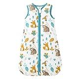 Mosebears Baby Winterschlafsack kinder schlafsack 2.5 Tog, Baby Schlafsäcke 100% Baumwolle für Verschiedene Größen von der Geburt bis zum Alter von 18 Monaten (Grün-Zoo, 6-12 Monate)