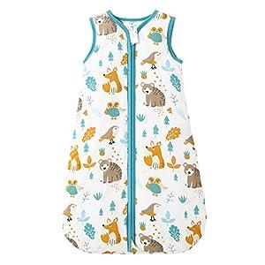 Mosebears Saco de dormir de invierno para bebé, 2,5 tog, 100 % algodón, para diferentes tamaños, desde el nacimiento hasta la edad de 24 meses.
