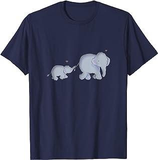 Maman et bébé éléphant avec des coeurs T-Shirt