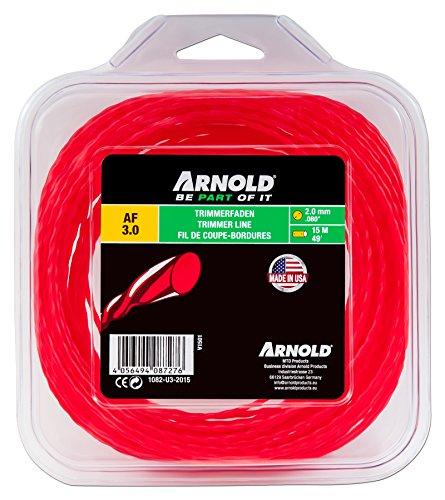 ARNOLD 1082-U3-2015 Trimerfaden AF 3,0, 2,0mm x 15m, rot, rund, gedreht