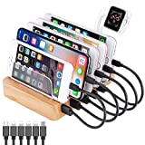 QC 3.0 Charging Station,AIZBO 60W 12A 6 Port Docking Stations & Desk Organizer