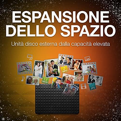 Seagate Expansion Desktop, 16 TB, Hard disk Esterno, USB 3.0 per PC Desktop, PC Portatili e Mac e 2 Anni di Servizi Rescue, Amazon Special Edition (STEB16000402)