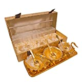 HHI Silver Gold Plated Traditional Gift Duck Shape Bowl Set of 7 Pcs with Golden Box