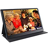 Portable Monitor - 15.6' 1080P FHD USB-3.0 Laptop External Monitor Computer Display with IPS Eye Care Screen Ultra-Slim Lightweight Sleek Second/Dual/Side Monitor for PC Phone Console Xbox Gaming