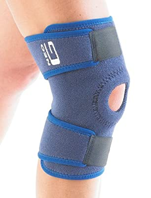 Neo G Knee Support, Open Patella - for Arthritis, Joint Pain Relief, Meniscus Pain, Recovery, Walking, Running, Gym, Sports, Skiing - Adjustable Compression - Class 1 Medical Device - 1 Size – Blue