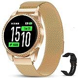 GOKOO Smartwatch Mujer Reloj Inteligente Pulsera Actividad para Deporte Pulsómetros Monitorización Presión Arterial Rastreador Fitness Compatible con Android iOS