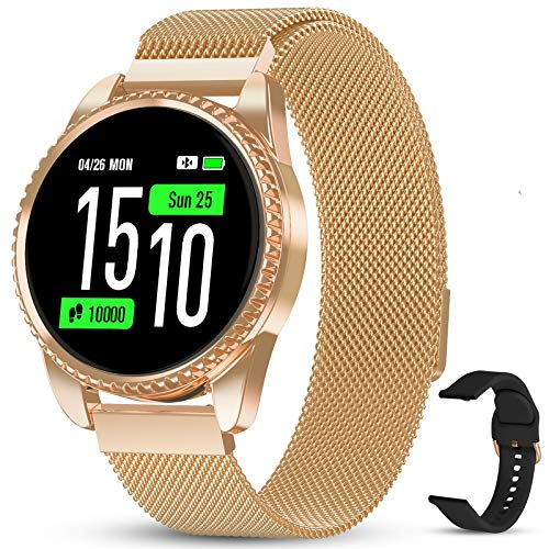 GOKOO Smartwatch Orologio Fitness Uomo Donna con Cardiofrequenzimetro Polso Sport Pedometro Smart Watch Activity Tracker Compatibile con Android iOS