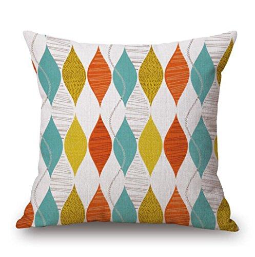 Longless Les pays nordiques des couleurs minimalistes oreiller draps en coton , appuie-tête coussin canapé affiché