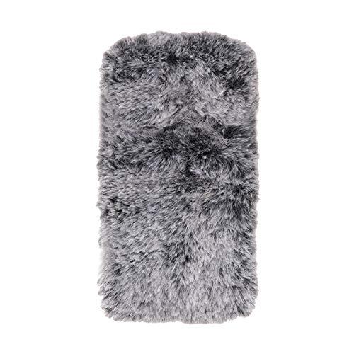 VILLCASE Funda de teléfono de Felpa Suave Moda de Invierno Lindo Mantener la Piel Caliente a Prueba de Golpes Muñequera Cubierta de teléfono para Xiaomi Redmi 4A (Gris Oscuro)