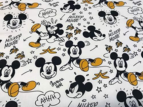 telas mickey mouse platanos 100% popelina algodón