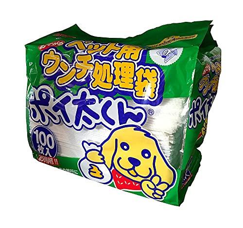(まとめ買い)ペット用ウンチ処理袋 ポイ太くん 100枚入 ペット用品 【×3】