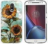 Moto G4Plus Fall Floral Schutzhülle, cclot Motorola Moto