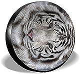 PageHar Protectores de Llantas Resistente a la Intemperie, Cubiertas de poliéster para Ruedas, Cubierta para Llantas de Repuesto, Cubierta para Llantas Tiger