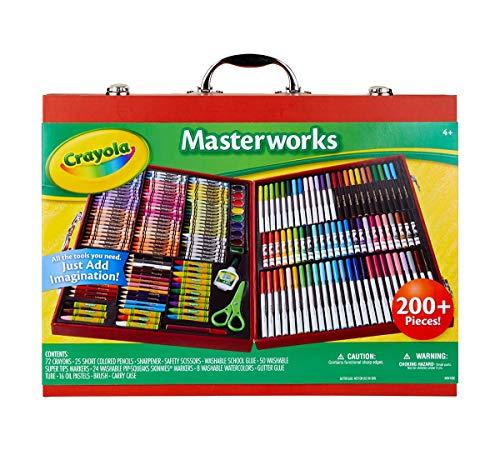 Crayola Masterworks Art Case, Over 200 Pieces, Gift for Kids, Age 4, 5, 6, 7 (Amazon Exclusive) (Renewed)