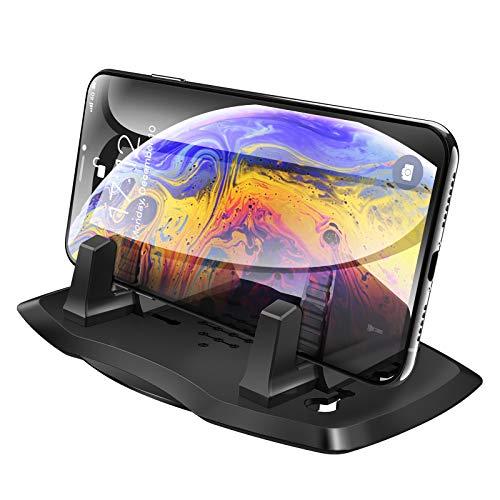 ipow - Soporte universal para teléfono móvil para coche, salpicadero, antideslizante, compatible con iPhone XS Max, 8, 7 Plus, 6S, Samsung Galaxy, dispositivos GPS y más (clásico)