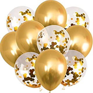 48pcs/lot 12inch Mixed Gold Confetti Balloons Birthday Party Decoration Kids Adult Metallic Chrome Balloon Air Ball Wedding Birthday Ballon Decor Baloon