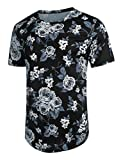 COOFANDY Men's Floral Print Shirts Short Sleeve Flowers Casual Shirt Hipster Hip Hop Tee