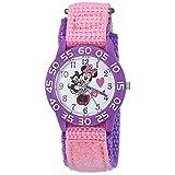 [ディズニー]Disney kids ディズニー キッズ 子供用 マジックテープ 女の子 ミニーマウス フィガロ ピンク パープル ナイロン WDS000165 腕時計[並行輸入品]