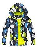 LAUSONS Giacca impermeabile da ragazza antivento, giacca imbottita per mezza stagione giallo. M