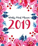 Weekly Meal Planner 2019: A Year - 365 Daily - 52 Week 2019 Calendar Meal Planner Daily Weekly and Monthly For Track & Plan Your Meals Food Planner Jan 2019 - Dec 2019 | Red Floral Design