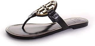 miller metal logo sandal leather