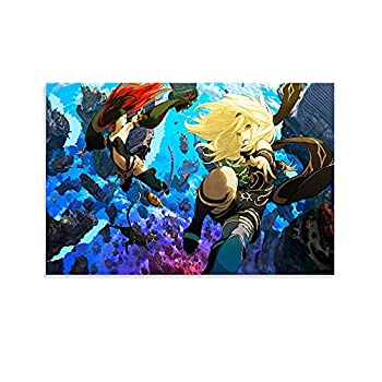 LLKD Anime Game Poster Gravity Rush Canvas Art Poster and Wall Art Picture Print Modern Family Bedroom Decor Posters 12x18inch 30x45cm